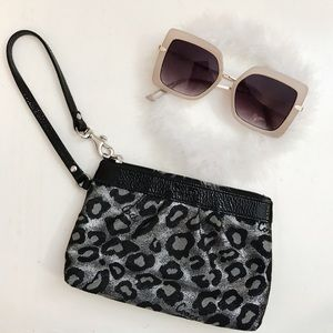 nwot Coach Limited Edition Cheetah Wristlet